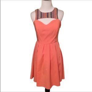 Ya Orange Sleeveless Razor Back Summer Dress S